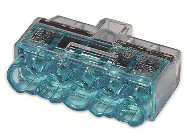 Verbindungsklemme, HellermannTyton, 148-90039, HCPM-5, 1,0 - 2,5 mm², blau, 5polig, 75 Stück - Produktbild 2