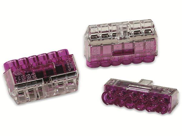 Verbindungsklemme, HellermannTyton, 148-90040, HCPM-6, 1,0 - 2,5 mm²violett, 50 Stück