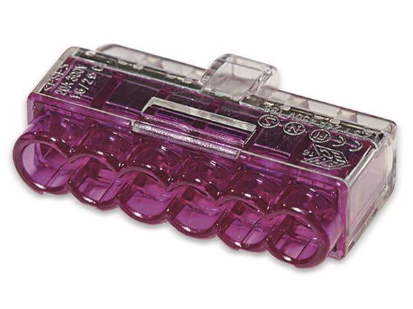 Verbindungsklemme, HellermannTyton, 148-90040, HCPM-6, 1,0 - 2,5 mm²violett, 50 Stück - Produktbild 2