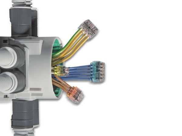 Verbindungsklemme, HellermannTyton, 148-90040, HCPM-6, 1,0 - 2,5 mm²violett, 50 Stück - Produktbild 4