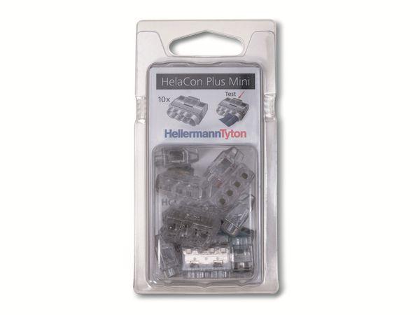 Verbindungsklemme, HellermannTyton, 148-90056, HCPM-4-Blister, transparent, 10 Stück