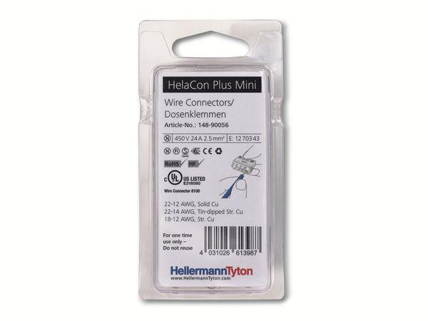 Verbindungsklemme, HellermannTyton, 148-90056, HCPM-4-Blister, transparent, 10 Stück - Produktbild 2