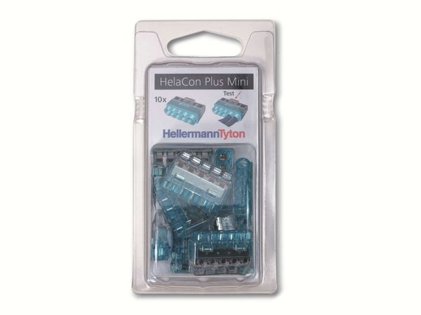 Verbindungsklemme, HellermannTyton, 148-90057, HCPM-5-Blister, blau, 10 Stück