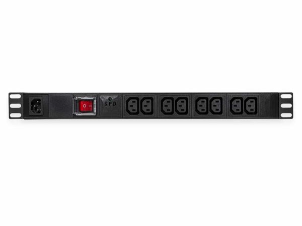 """Steckerleiste LOGILINK, 19"""", 8-fach, IEC320 Stecker, Schalter, schwarz"""