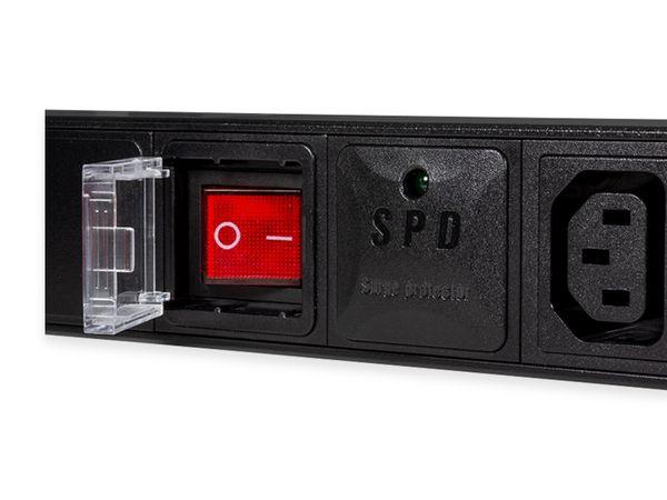 """Steckerleiste LOGILINK, 19"""", 8-fach, IEC320 Stecker, Schalter, schwarz - Produktbild 2"""