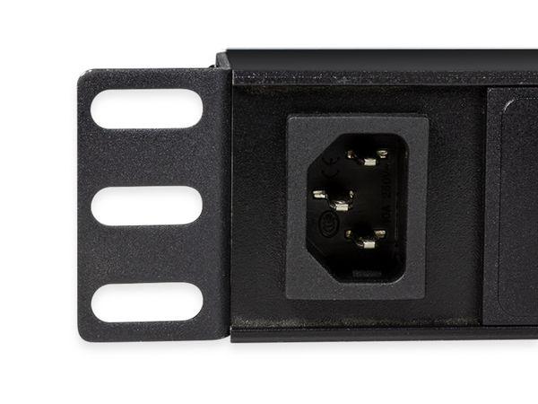 """Steckerleiste LOGILINK, 19"""", 8-fach, IEC320 Stecker, Schalter, schwarz - Produktbild 3"""