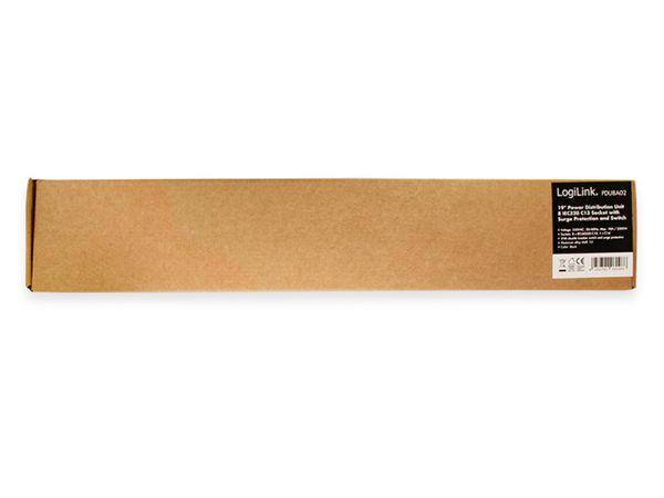 """Steckerleiste LOGILINK, 19"""", 8-fach, IEC320 Stecker, Schalter, schwarz - Produktbild 4"""
