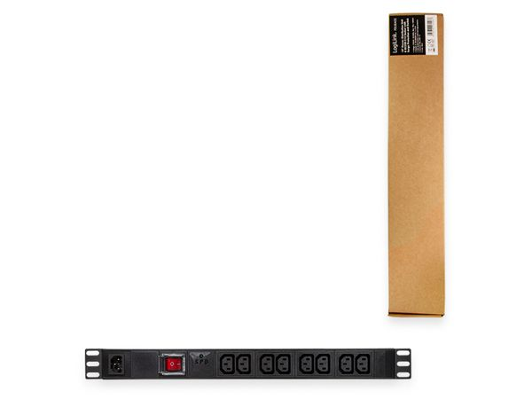 """Steckerleiste LOGILINK, 19"""", 8-fach, IEC320 Stecker, Schalter, schwarz - Produktbild 5"""