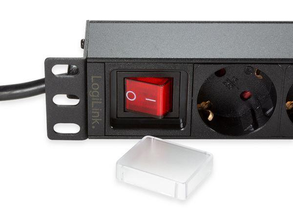 """Steckdosenleiste LOGILINK, 19"""", 9-fach, Schutzkontaktstecker, Schalter, schwarz - Produktbild 3"""