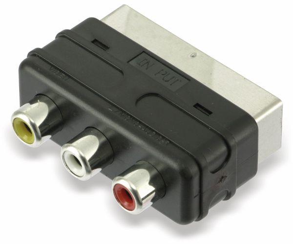 Scart-Adapterstecker, Scart zu Cinch - Produktbild 1