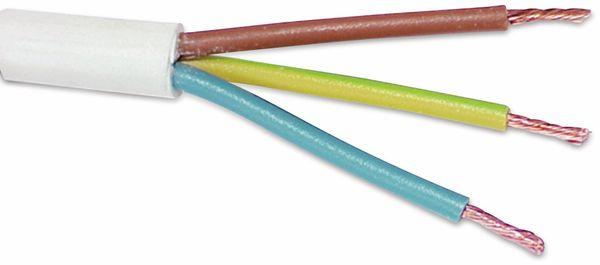 PVC-Schlauchleitung H03VV-F, 3G0,75, 25 m, weiß