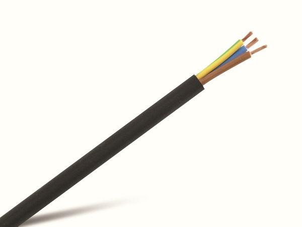 PVC-Schlauchleitung H03VV-F, 3G0,75, 25 m, schwarz