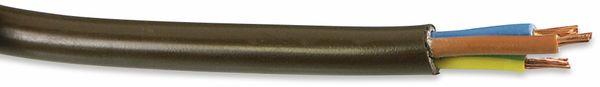 PVC-Schlauchleitung H03VV-F, 3G0,75, 25 m, braun