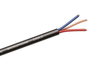 Mikrofonkabel, 2-polig, 50 m, schwarz