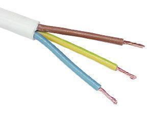 PVC-Schlauchleitung H03VV-F, 3G0,75, 50 m, weiß