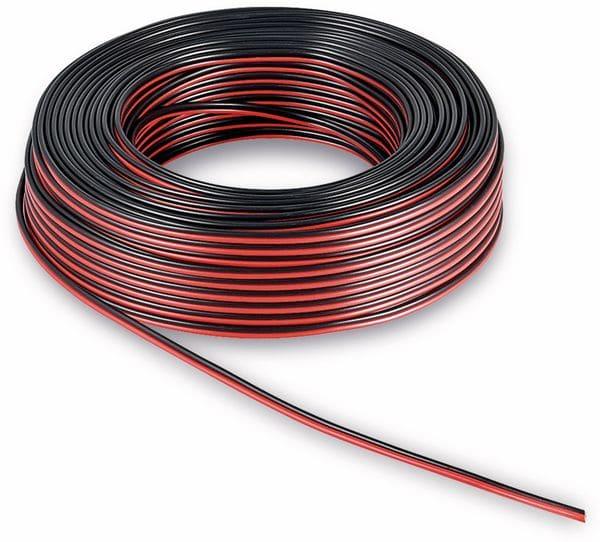 Lautsprecherkabel, 2x4 mm², 50m, farbig, CCA - Produktbild 2