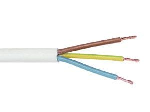 PVC-Schlauchleitung H03VV-F, 3G0,75, 100 m, weiß