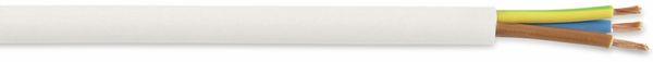 PVC-Schlauchleitung H03VV-F, 3G0,75, 10 m, weiß