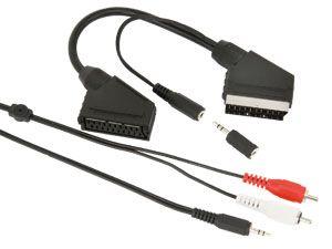 Scart-Adapterkabel mit Audio-Abzweig