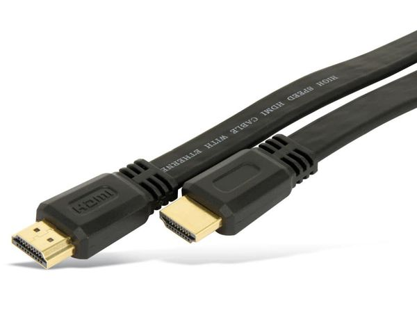 HDMI-Flatkabel, HIGH SPEED with ETHERNET, 5 m