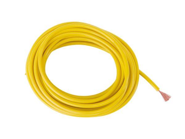 Schaltlitze höchstflexibel LifYY, 1 mm², 5 m, gelb - Produktbild 2
