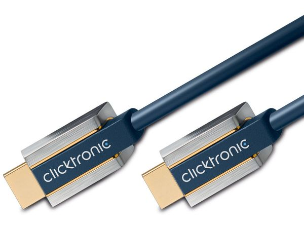 CLICKTRONIC Advanced HDMI-Kabel, HIGH SPEED with ETHERNET, 1 m