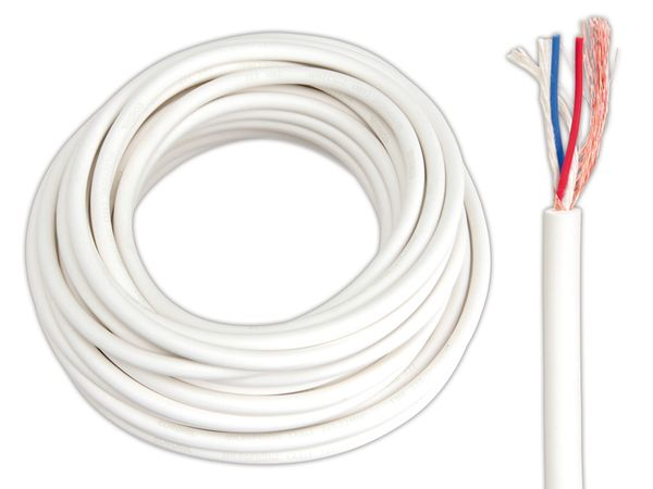 Mikrofonkabel CORDIAL CMK222, weiß, 10 m