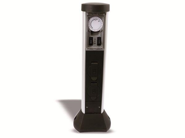Gartensteckdose mit Zeitschaltuhr REV 0068206258, 2-fach, IP44