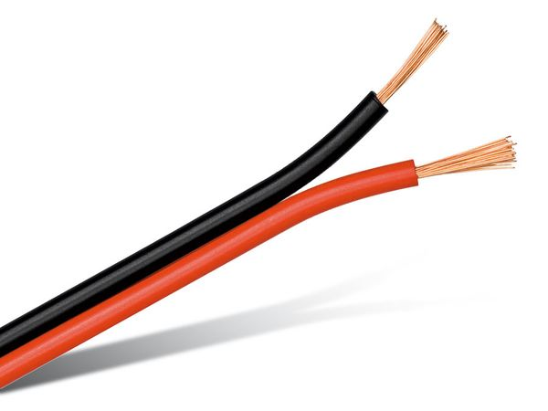 Power-Lautsprecherkabel, farbig, 175 m, Kunststoffspule