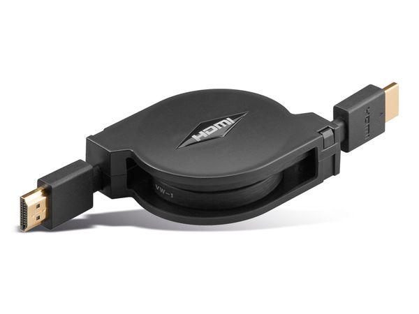 HDMI-Kabel, aufrollbar, HIGHSPEED with ETHERNET, 1,5 m, GOOBAY