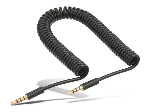 Klinken-Verbindungskabel 3,5 mm, ausziehbar bis zu 1 m - Produktbild 1