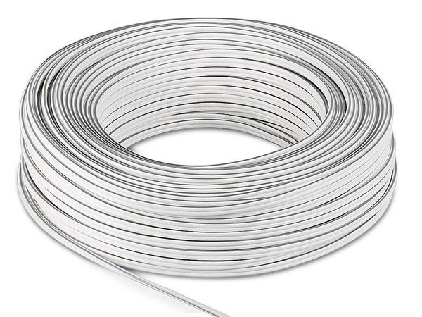 Lautsprecherkabel, 2x0,75 mm², 50 m, weiß, CCA - Produktbild 2