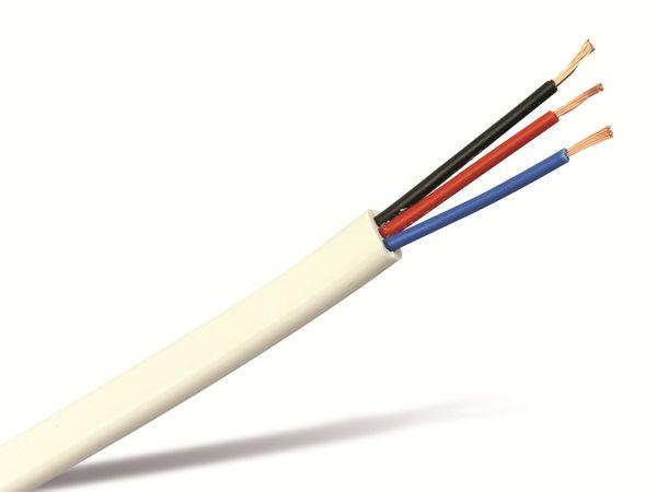 Flachleitung, 3x0,22, weiß, 10 m - Produktbild 1