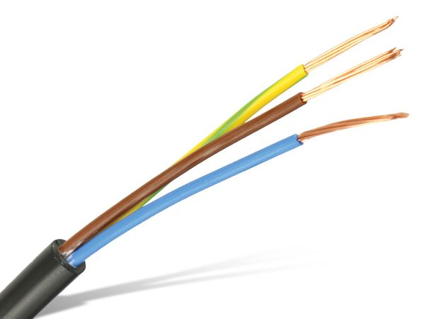 Netzleitung, 3x 0,5 mm², 20 m