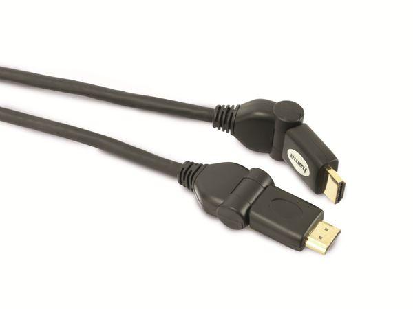 HAMA HDMI-Kabel, HDMI HIGH SPEED, winkelbar, 1,5 m