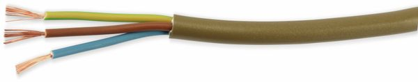 PVC-Schlauchleitung H03VV-F, 3G0,75, 10 m, gold - Produktbild 1