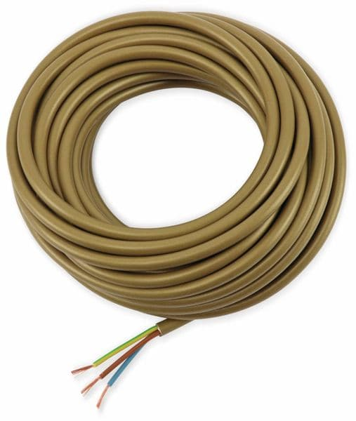 PVC-Schlauchleitung H03VV-F, 3G0,75, 10 m, gold - Produktbild 2