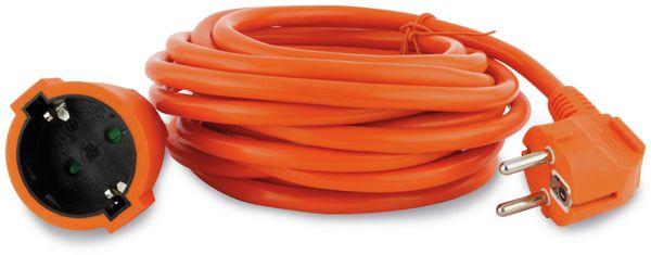 Schutzkontakt-Verlängerung REV, 25 m, orange