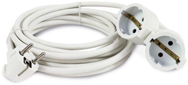 Schutzkontakt-Verlängerung REV, Doppelkupplung, 3 m, weiß