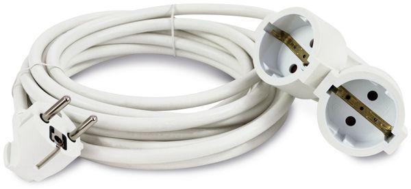 Schutzkontakt-Verlängerung REV, Doppelkupplung, 5 m, weiß