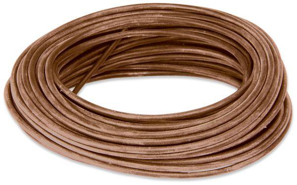 Silikon-Litze, 1,5 mm², braun, 10 m