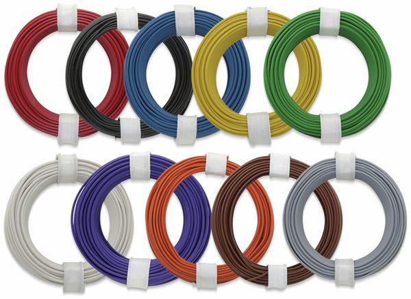 Kupferlitzen-Set (0,14 mm²) 10 x 10 m, 10 farbig