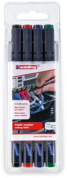 EDDING, 4-8407-4, e-8407/4 S Kabelmarkerset