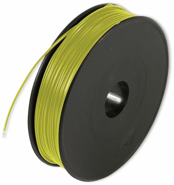 Litze, 1x0,14, 100m Spule, gelb, LIYV