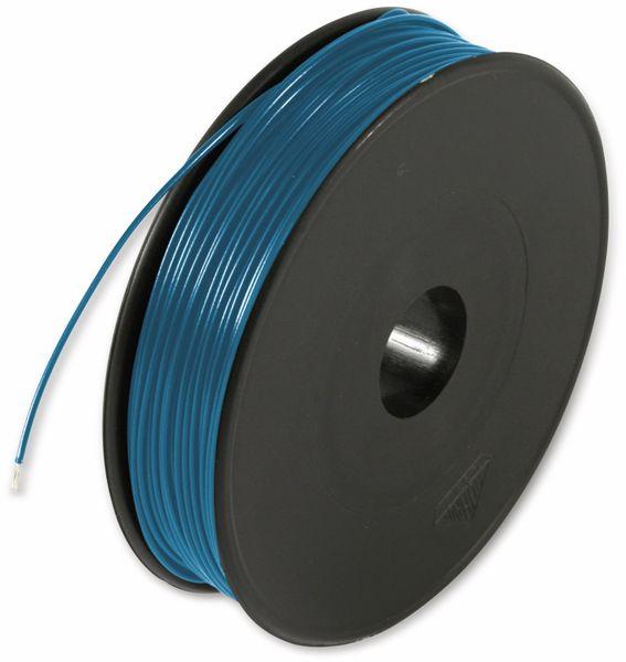 Litze, 1x0,14, 100m Spule, blau, LIYV