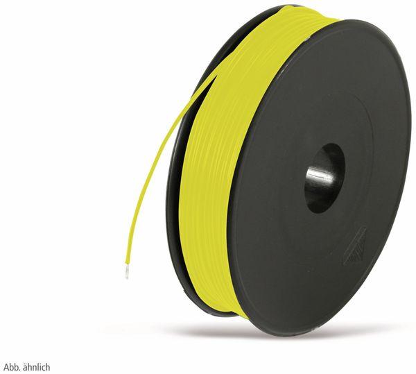 Litze, 1x0,25, 100m Spule, gelb, LIYV
