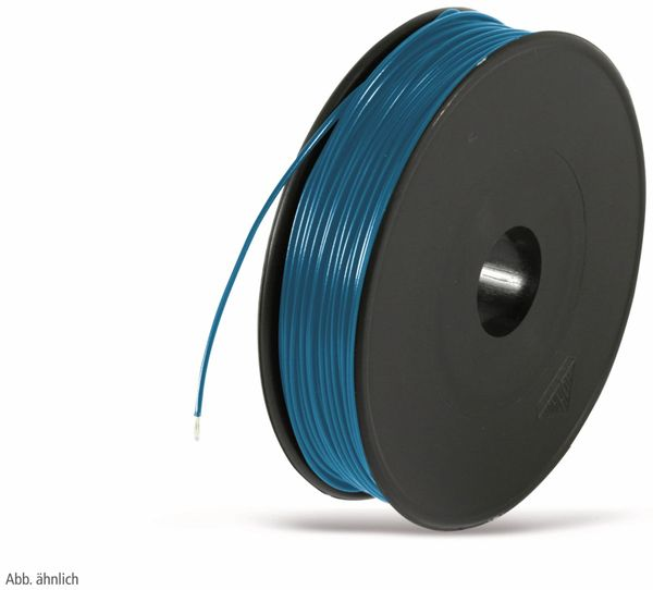 Litze, 1x0,25, 100m Spule, blau, LIYV