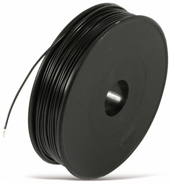 Litze, 1x0,25, 100m Spule, schwarz, LIYV