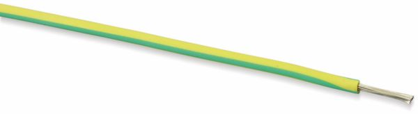 Silikon-Litze, 6 mm², 10 m, grün/gelb