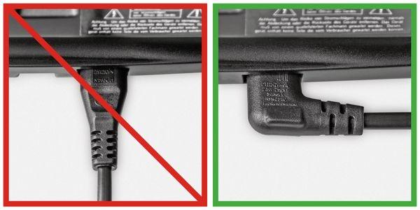 Euro-Netzkabel mit Doppelnutkupplung, schwarz, 5m, 90°, geeignet für SONOS PLAY 1 und 5 - Produktbild 5